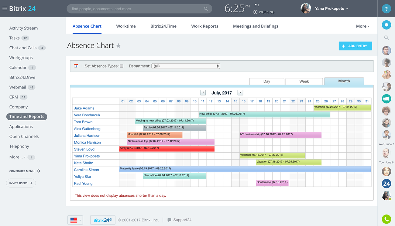 Bitrix24 Free Office Management Software