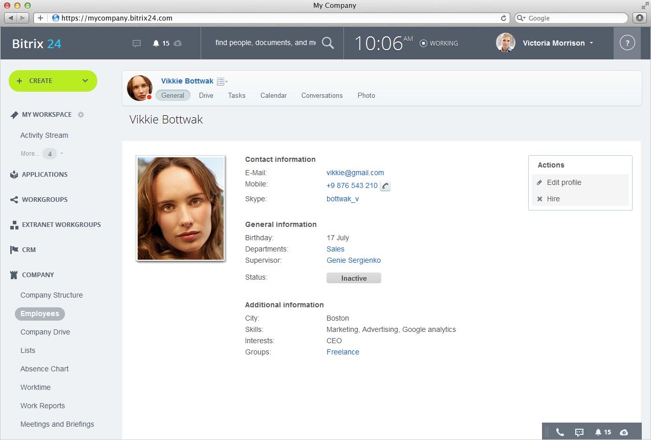 Bitrix24 Searchable Employee Directory In Bitrix24